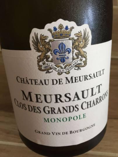 Domaine du Château de Meursault – Clos des Grands Charrons 2014 Monopole – Meursault