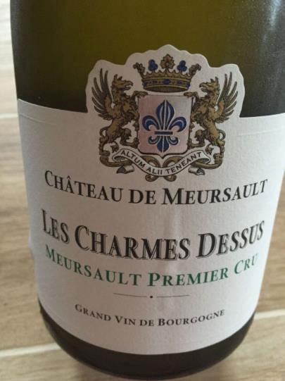 Domaine du Château de Meursault – Les Charmes Dessus 2014 – Meursault Premier Cru