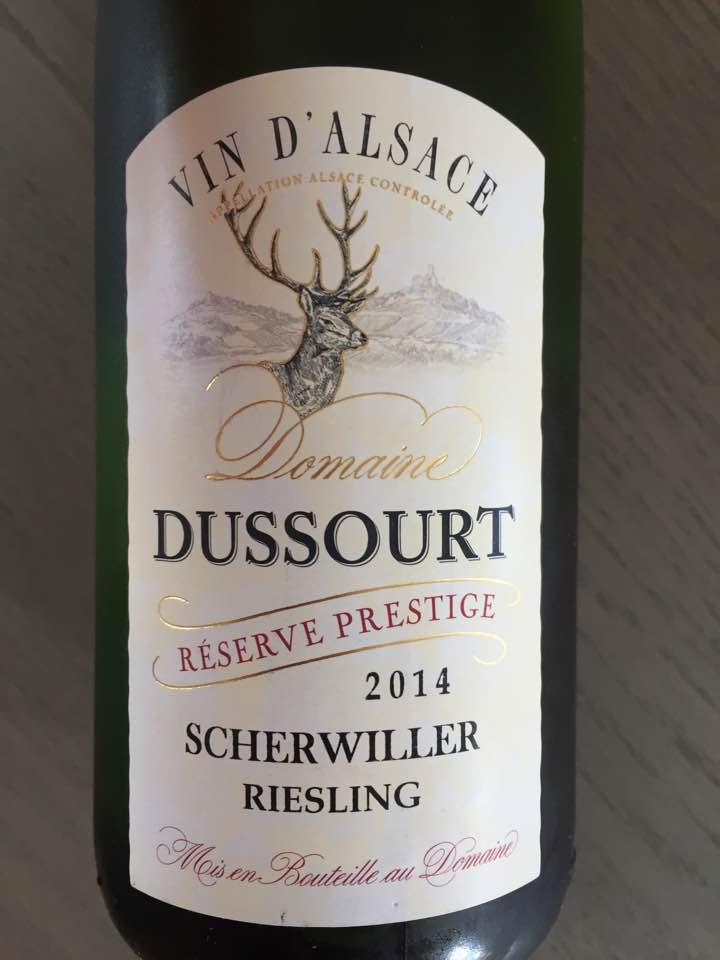 Domaine Dussourt – Reserve Prestige 2014 – Riesling – Scherwiller – Alsace
