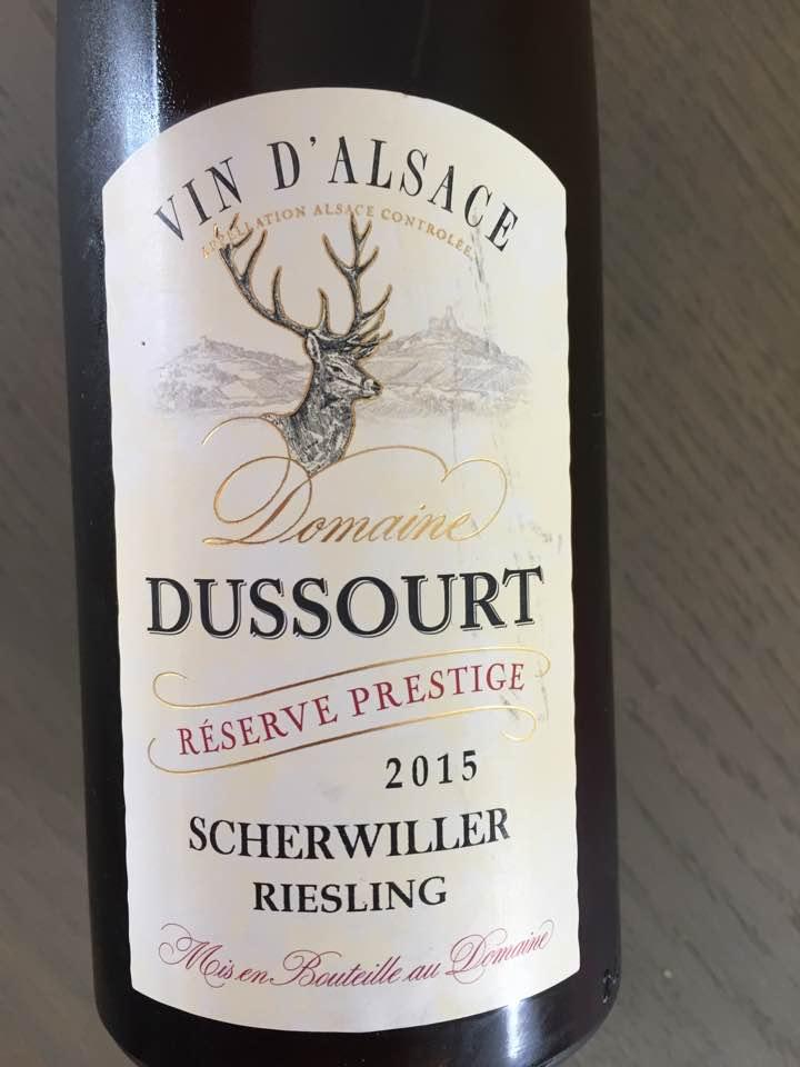 Domaine Dussourt – Reserve Prestige 2015 – Riesling – Scherwiller – Alsace