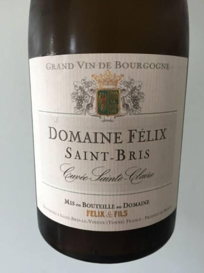 Domaine Félix – Cuvée Sainte-Claire 2015 – Saint-Bris