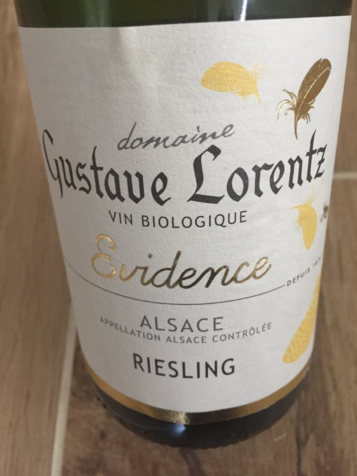 Domaine Gustave Lorentz – Evidence 2015 – Riesling – Alsace