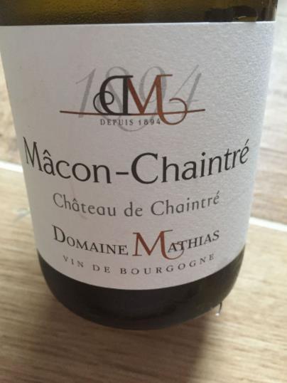 Domaine Mathias – Château de Chaintré 2015 – Mâcon-Chaintré