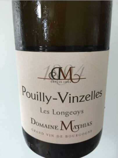 Domaine Mathias – Les Longeays 2015 – Pouilly-Vinzelles