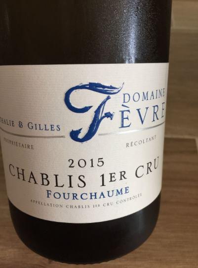 Domaine Nathalie & Gilles Fèvre – Fourchaume 2015 – Chablis 1er Cru
