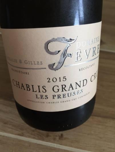 Domaine Nathalie & Gilles Fèvre – Les Preuses 2015 – Chablis Grand Cru