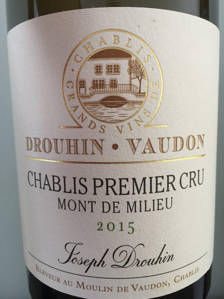 Drouhin Vaudron – Mont de Milieu 2015 – Chablis Premier Cru