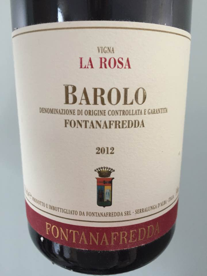 Fontanafredda – Vigna La Rosa 2012 – Barolo