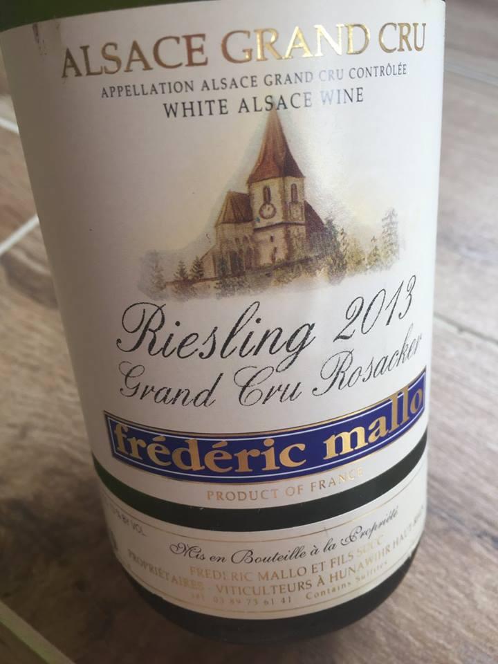 Frédéric Mallo – Riesling 2013 – Alsace Grand Cru Rosacker
