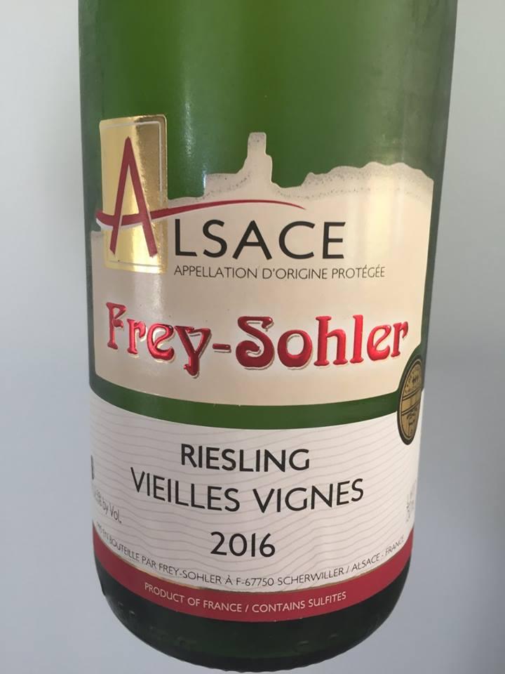 Frey-Sohler – Riesling 2016 – Vieilles Vignes – Alsace