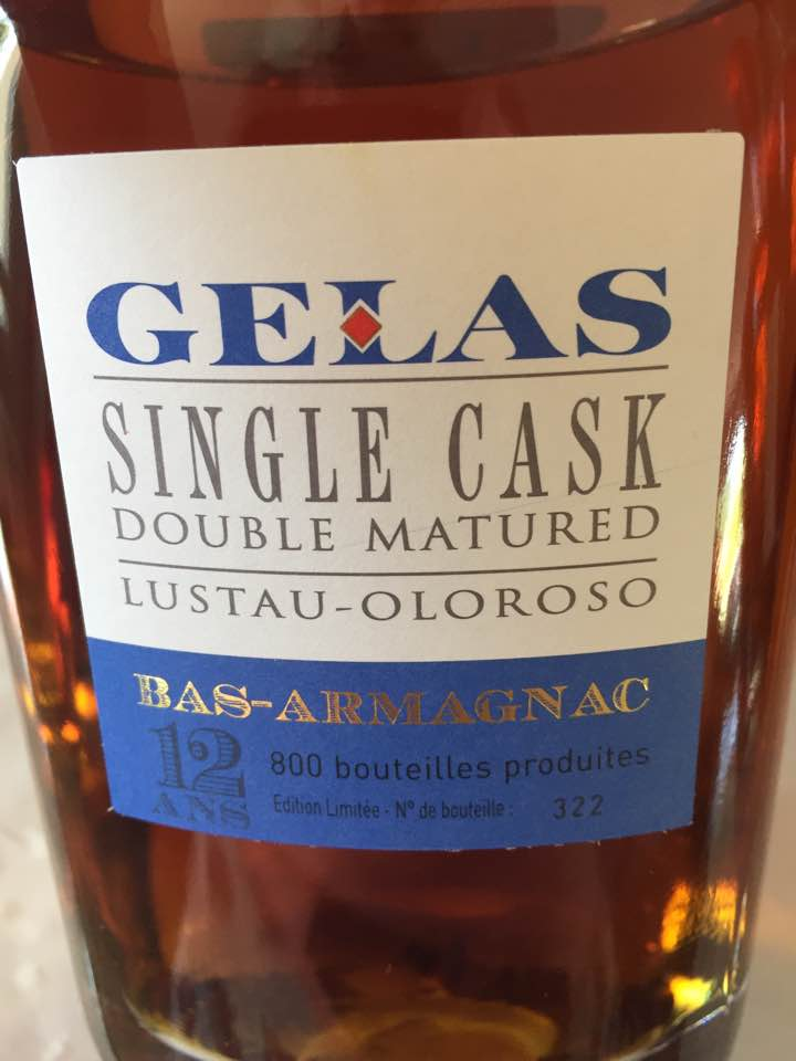 Gelas – Single Cask – Double Matured – Lustau-Oloroso – 12 ans – Bas-Armagnac
