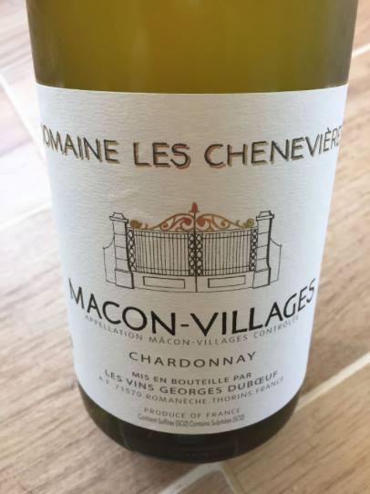 George Duboeuf – Domaine les Chenevières – Chardonnay 2015 – Macon-Villages