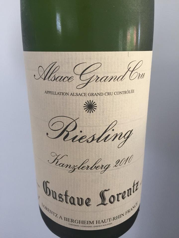 Gustave Lorentz – Riesling 2010 – Kanzlerberg – Alsace Grand Cru