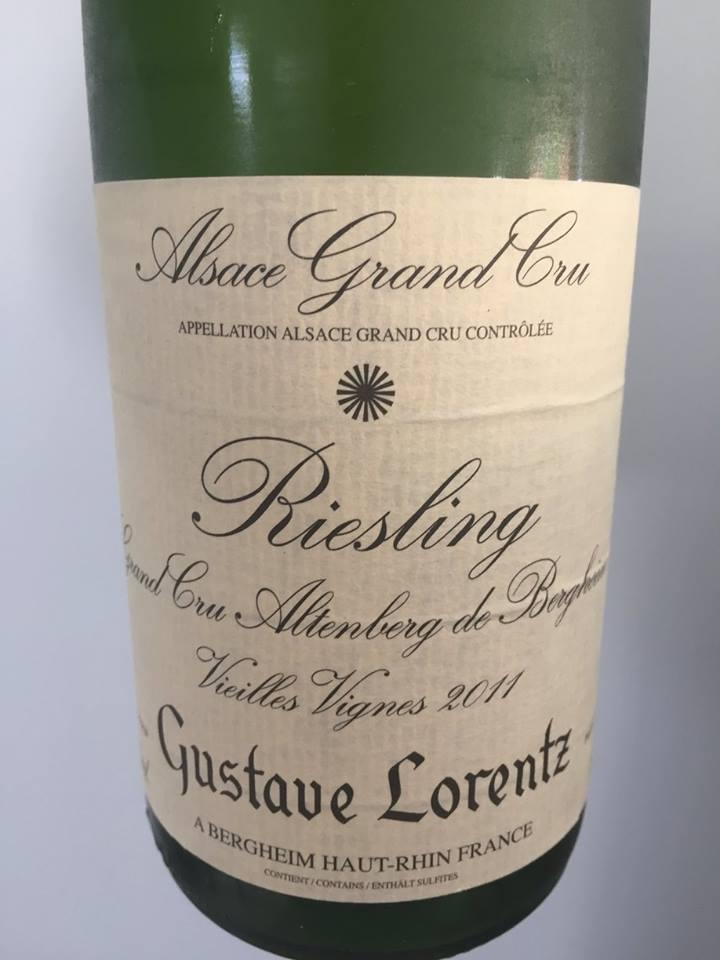 Gustave Lorentz – Riesling 2011 – Vieilles Vignes – Altenberg de Bergheim – Alsace Grand Cru