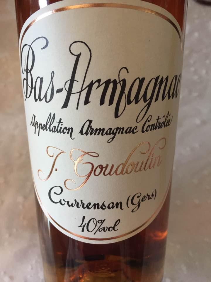 J. Goudoulin – 15 ans d'Âge – Bas-Armagnac