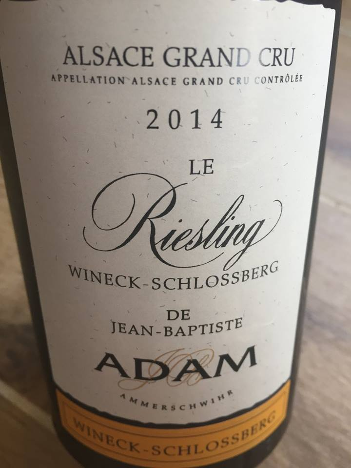 Jean-Baptise Adam – Le Riesling 2014 – Wineck-Schlossberg – Alsace Grand Cru