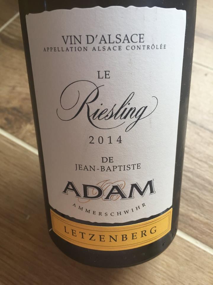 Jean-Baptiste Adam – Le Riesling 2014 – Letzenberg – Alsace