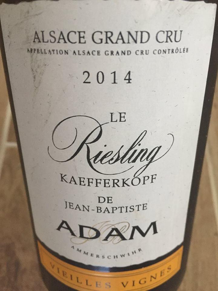 Jean-Baptiste Adam – Le Riesling 2014 – Vieilles Vignes – Kaefferkopf – Alsace Grand Cru