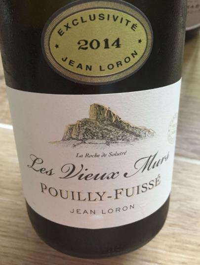 Jean Loron – Les Vieux Murs 2014 – Pouilly-Fuissé