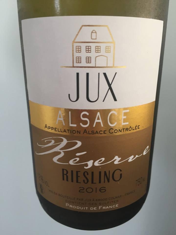 Jux – Riesling 2016 Reserve – Alsace