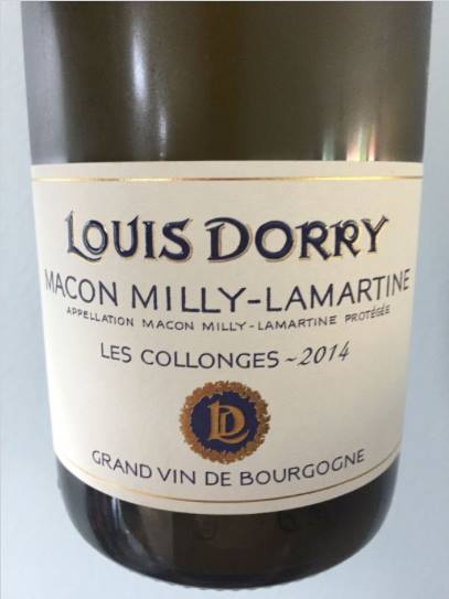 Louis Dorry – Les Collonges 2014 – Macon Milly-Lamartine