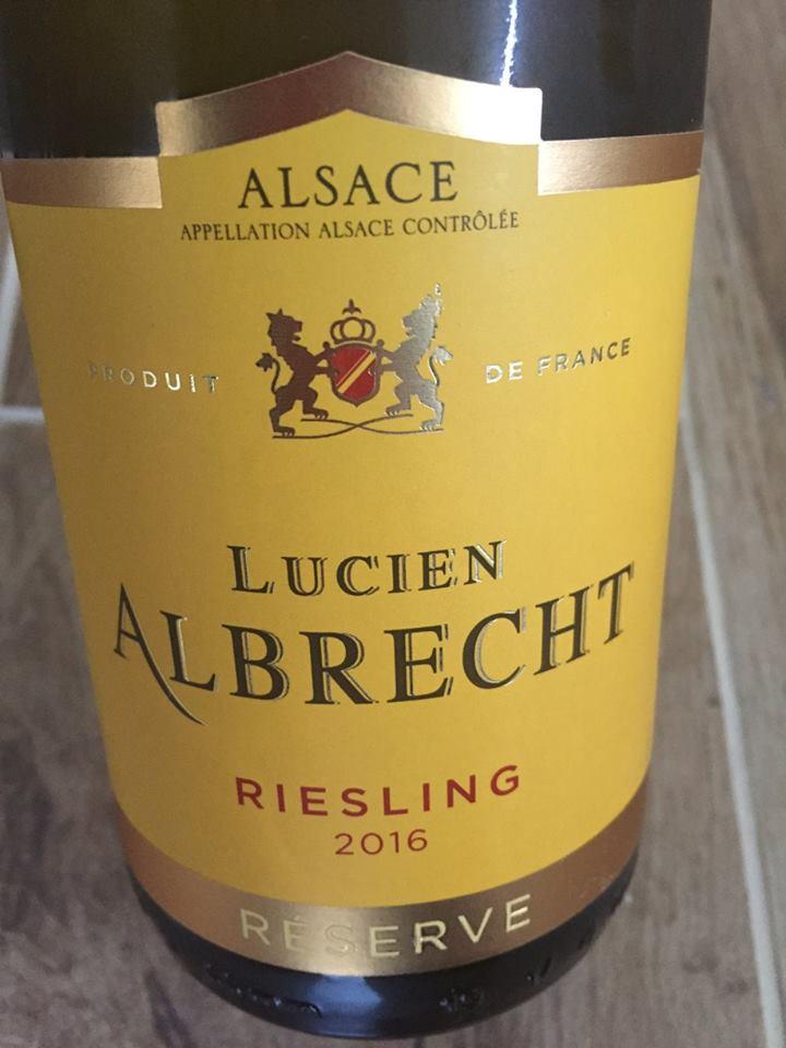 Lucien Albrecht – Riesling 2016 – Réserve – Alsace