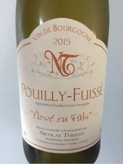 Nicolas Thibert 2015 – Elevé en Fûts – Pouilly-Fuissé