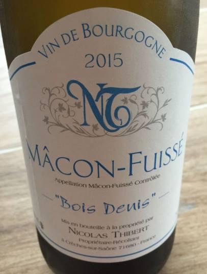 Nicolas Thibert – Bois Denis 2015 – Mâcon-Fuissé