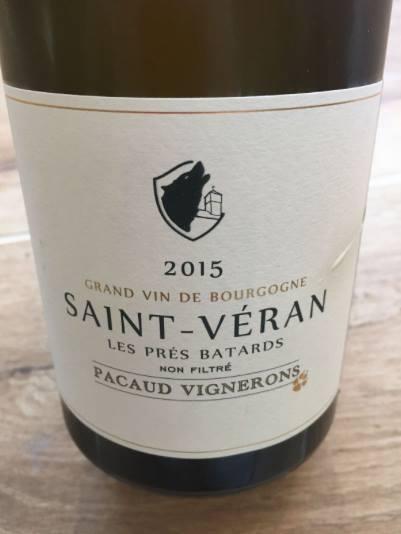 Pacaud Vignerons – Les Prés Batard 2015 – Saint-Véran
