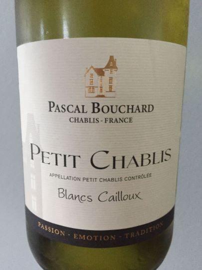 Pascal Bouchard – Blancs Cailloux 2015 – Petit Chablis