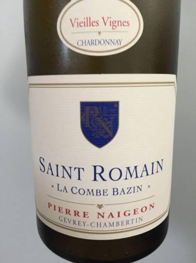 Pierre Naigeon – La Combe Bazin 2014 – Vieilles Vignes – Saint Romain