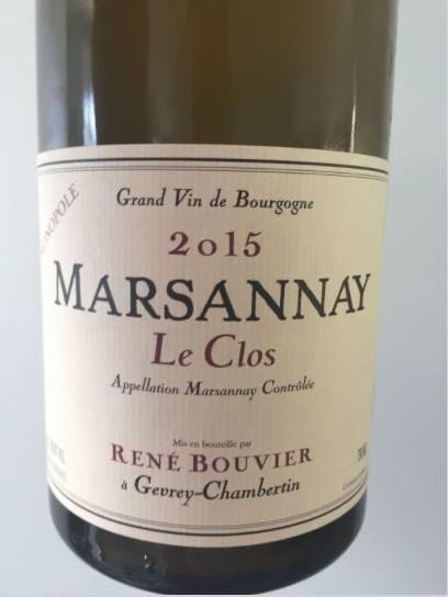 René Bouvier – Le Clos 2015 – Monopole – Marsannay