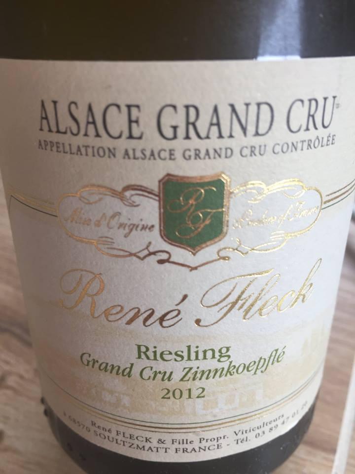 René Fleck – Riesling 2012 – Alsace Grand Cru Zinnkoepflé