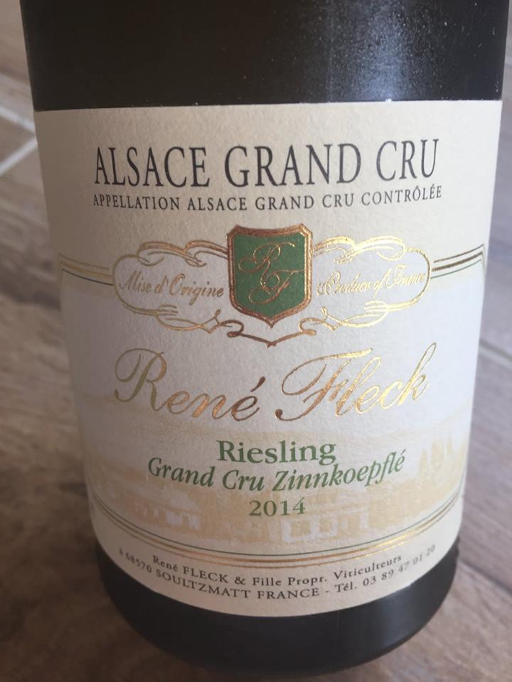 René Fleck – Riesling 2014 – Alsace Grand Cru Zinnkoepflé