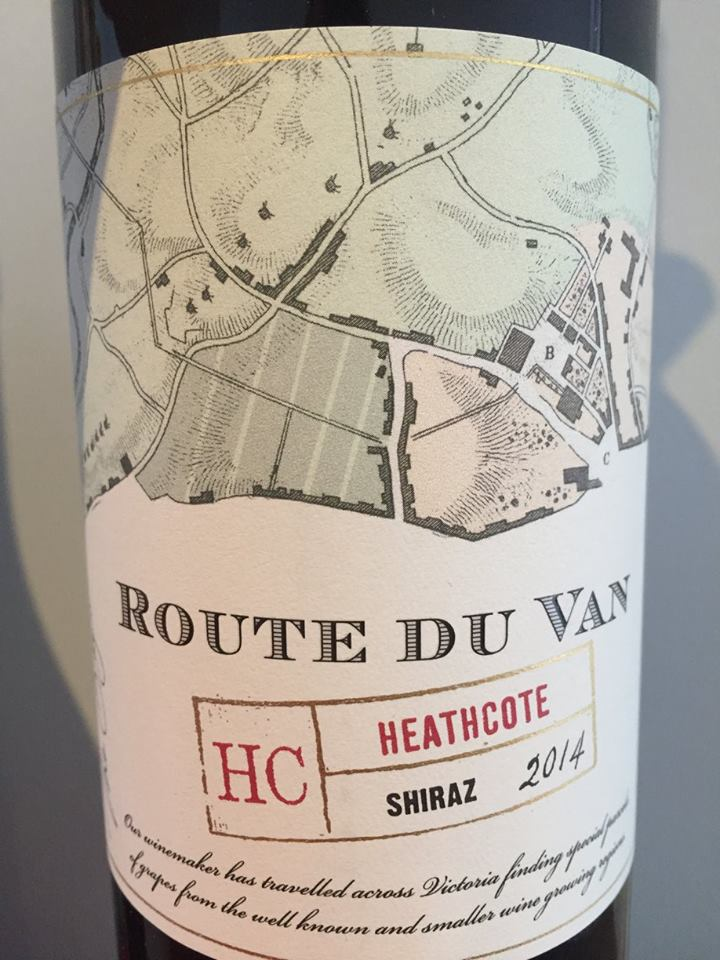 Route du Van – Shiraz 2014  – Heathcote