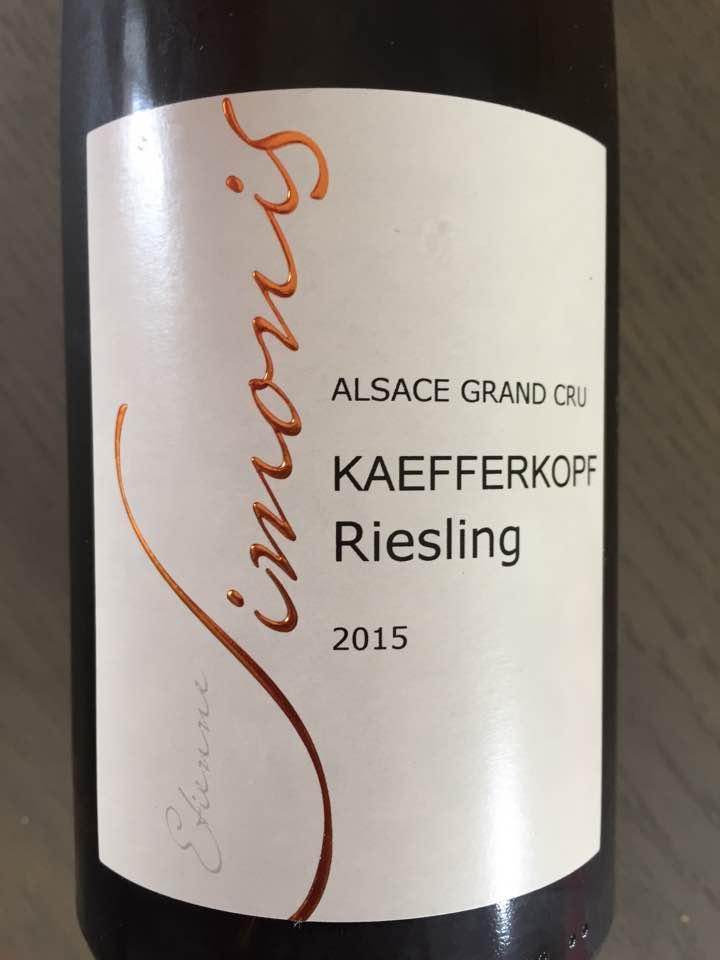 Simonis – Riesling 2015 Kaefferkopf – Alsace Grand Cru