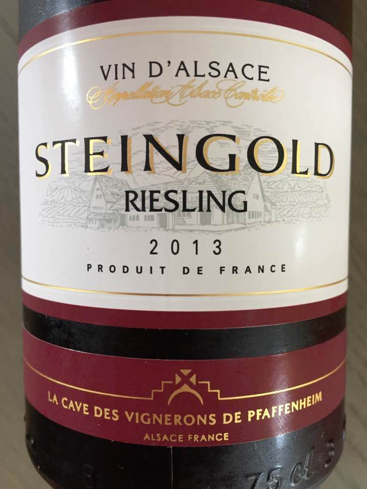 Steingold – Riesling 2013 – Alsace