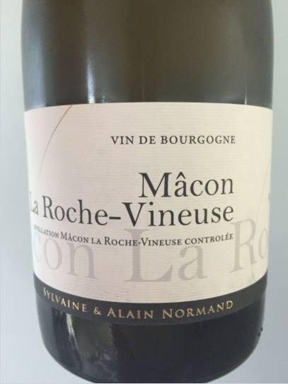 Sylvaine & Alain Normand 2015 – Mâcon La Roche-Vineuse