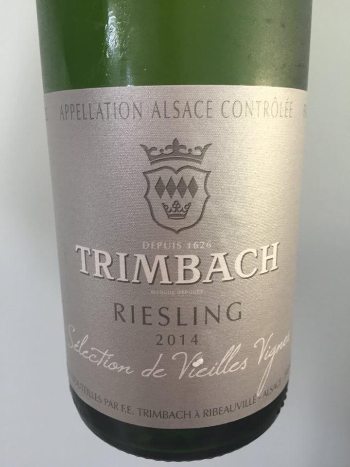 Trimbach – Riesling 2014 – Sélection de Vieilles Vignes – Alsace