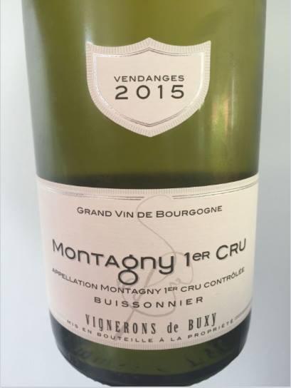 Vignerons de Buxy 2015 – Montagny 1er Cru