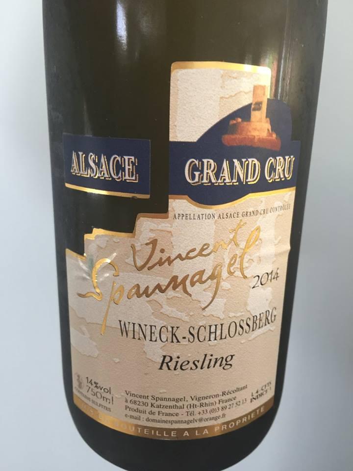 Vincent Spannagel – Riesling 2014 – Wineck-Schlossberg – Alsace Grand Cru