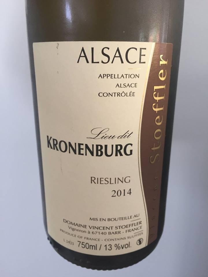 Vincent Stoeffler – Riesling 2014 – Lieu-dit Kronenburg – Alsace
