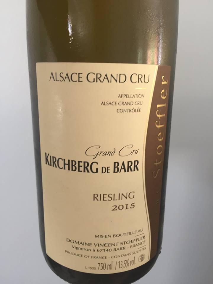 Vincent Stoeffler – Riesling 2015 – Kirchberg de Barr – Alsace Grand Cru