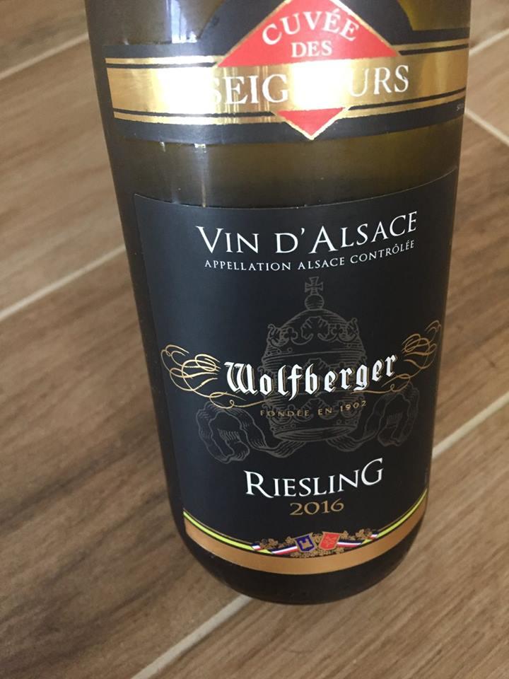Wolfberger – Cuvée des Seigneurs – Riesling 2016 – Alsace