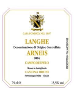 Cascina Bruni – Arneis 2016 – Langhe