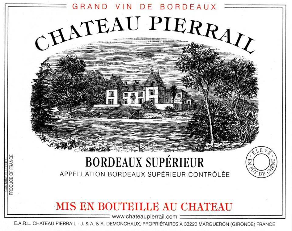 Château Pierrail 2015 – Bordeaux Supérieur