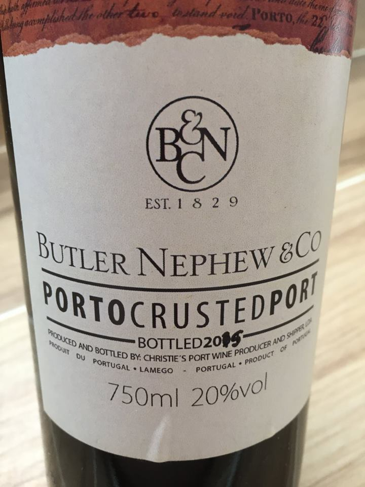 Butler Nephew & Co – 2015 Porto Crusted Port