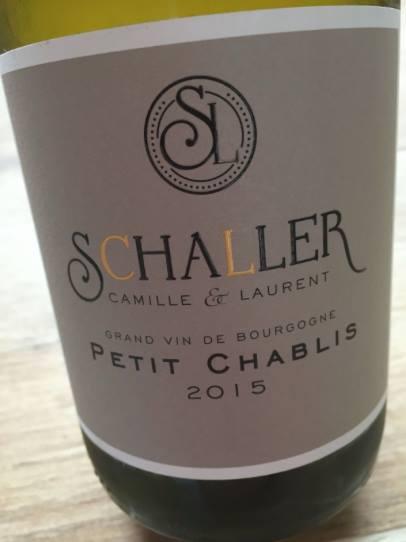 Camille & Laurent Schaller 2015 – Petit Chablis
