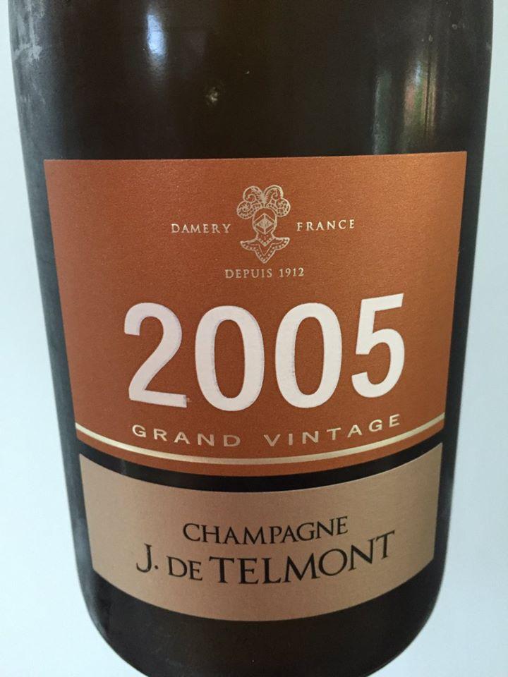 Champagne J. De Telmont – Grand Vintage 2005 – Brut