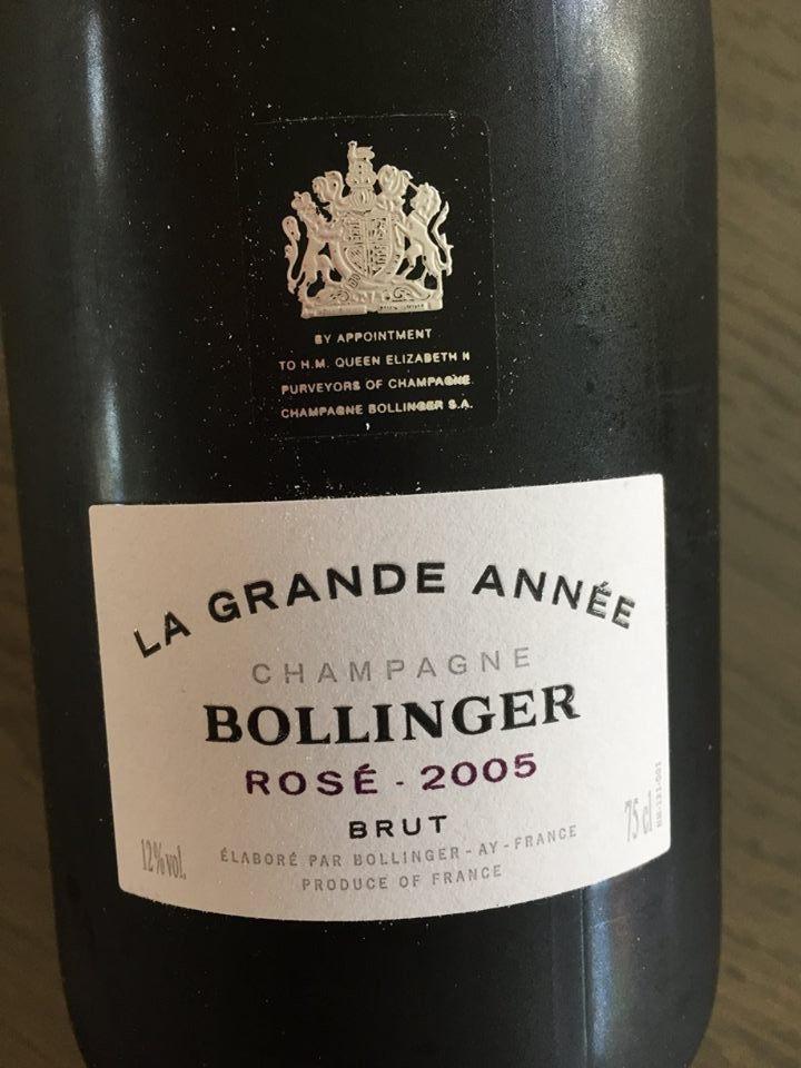 Champagne Bollinger – La Grande Année – Rosé 2005 – Brut